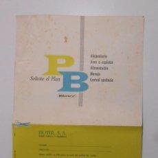 Catálogos publicitarios - HOJA PUBLICITARIA BIOTER. PIENSOS ALIMENTACION PARA AVES. MADRID 1961. TDKP2 - 101924451