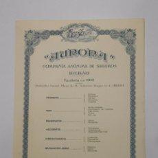 Catálogos publicitarios: HOJA PUBLICITARIA AURORA COMPAÑIA ANONIMA DE SEGUROS BILBAO. PLAZA FEDERICO MOYUA. AÑOS 50. TDKP2. Lote 101926563