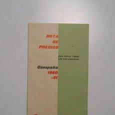 Catálogos publicitarios - CATALOGO PUBLICITARIO DE PRECIOS GRANJA VILA. REUS CAMPAÑA 1960 - 1961. NOTA DE PRECIOS. TDKP2 - 101928411