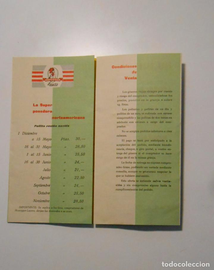 Catálogos publicitarios: CATALOGO PUBLICITARIO DE PRECIOS GRANJA VILA. REUS CAMPAÑA 1960 - 1961. NOTA DE PRECIOS. TDKP2 - Foto 2 - 101928411