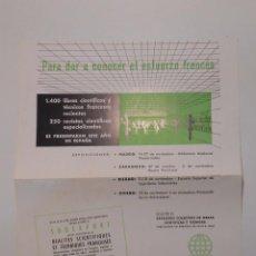 Catálogos publicitarios - HOJA PUBLICITARIA SODEXPORT. PARIS. UNION AGRUPACION DE LOS EDITORES CIENTIFICOS FRANCESES. TDKP2 - 101930355