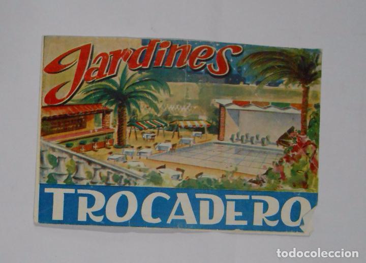 FOLLETO PUBLICITARIO JARDINES TROCADERO. TDKP2 (Coleccionismo - Catálogos Publicitarios)