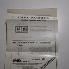 Werbekataloge - HOJA ANUNCIO CASA PARRITA GRANDES TALLERES MECANICOS. CHICLANA CADIZ. TDKP2 - 102016519