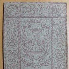 Catálogos publicitarios: FERIAS FIESTAS DE Nª SRA. DE LA VEGA (HARO-LOGROÑO) / SEPTIEMBRE 1951. Lote 102162715