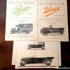 Catálogos publicitarios: CATÁLOGOS DE VEHÍCULOS. PAPEL. FRANCIA. CIRCA 1920. Lote 102334919