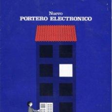 Catálogos publicitarios: GOLMAR PORTERO ELECTRONICO CATLOGO Y TARIFA DE PRECIOS AÑO 1976. Lote 103230075
