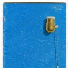 Catálogos publicitarios: BJC CATALOGO GENERAL DE PEQUEÑO MATERIAL ELECTRICO AÑO 1969 PAGINAS 34. Lote 103232399