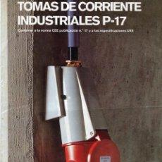 Catálogos publicitarios: LEGRAND CATALOGO +TARIFA DE PRECIOS DE TOMAS DE CORRIENTE INDUSTRIALES AÑO 1974. Lote 103236787
