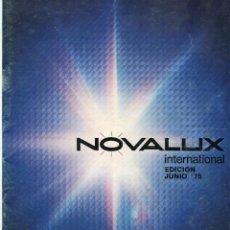 Catálogos publicitarios: NOVALUX INTERNACIONL CATALOGO DE LUCES,FOCOS LAMPARAS...45 PAGINAS AÑO 1975. Lote 103287027