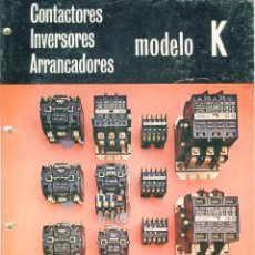 Catálogos publicitarios: AGUT -TARRASA- CATALOGO DE CONTACTORES, INVERSORES,ARRANCADORES 31 PAGINAS AÑO 1974. Lote 103352655
