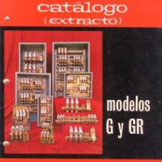 Catálogos publicitarios: AGUT -TARRASA- CATALOGO CONTROL Y PROTECCON DE MOTORES MODELOS G Y GR 24 PAGINAS AÑO 1973. Lote 103352983
