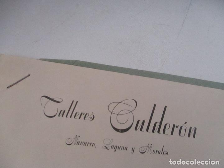 FOLLETO DE: TALLERES CALDERÓN-NAVARRO LAGUNA Y MORALES- VILLENA, OCTUBRE 1947 (Coleccionismo - Catálogos Publicitarios)