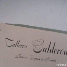 Catálogos publicitarios: FOLLETO DE: TALLERES CALDERÓN-NAVARRO LAGUNA Y MORALES- VILLENA, OCTUBRE 1947. Lote 103494507