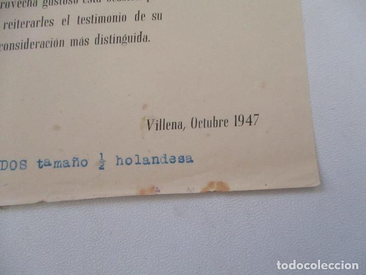 Catálogos publicitarios: FOLLETO DE: TALLERES CALDERÓN-NAVARRO LAGUNA Y MORALES- VILLENA, OCTUBRE 1947 - Foto 2 - 103494507