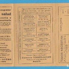 Catálogos publicitarios: TODOS NECESITAN. CURA HEUMANN. FARMACIA TORRES-ACERO, MADRID. FOLLETO TRÍPTICO CON CUPÓN DE PEDIDO. Lote 103578043