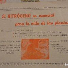 Catálogos publicitarios: FOLLETO PUBLICITARIO.NITRAGIN.ABONO NITROGENADO.ANTONIO RODENAS SERRANO.REPRESENTANTE.ELCHE 1957. Lote 103638415
