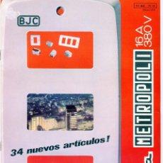 Catálogos publicitarios: BJC LINEA METROPOLI CATALOGO 7 PAGINAS AÑO 1974. Lote 103877907