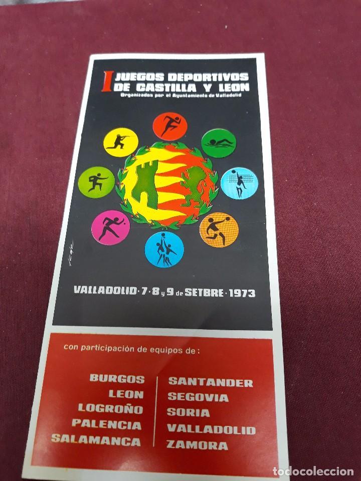 JUEGOS DEPORTIVOS ( RUGBY, VOLEI, NATACION, PELOTA A MANO, TIRO... ) CASTILLA Y LEON 1973. (Coleccionismo - Catálogos Publicitarios)