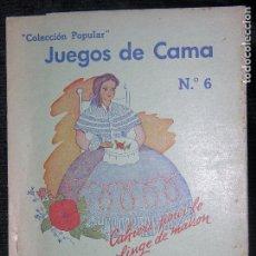 Catálogos publicitarios: (F.1) JUEGOS DE CAMA Nº 6 MARCEL LYSS PARIS. Lote 104267651
