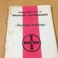 Cataloghi pubblicitari: ANTIGUO CATALOGO MEDICINA VETERINÀRIA INSTITUTO BEHRING BAYER 1935. Lote 104309563