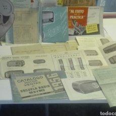 Catálogos publicitarios: PUBLICIDAD Y CATALOGOS AÑOS 50 ESCUELA DE RADIO MAYMO. Lote 114794220