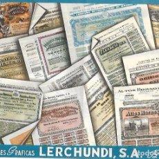 Catálogos publicitarios: FOLLETO PUBLICITARIO. ARTES GRAFICAS LERCHUNDI. BILBAO. VER DORSO. 27 X 21CM. Lote 104868275