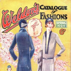 Catálogos publicitarios: CATÁLOGO MODA WELDON 'S PRIMAVERA 1929 ¡52 PÁGINAS ILUSTRADAS!. Lote 105009967