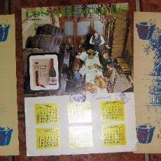 Catálogos publicitarios: 3 CARTA MENU MINUTA RESTAURANTE LOS CARACOLES . BOFARULL HNS. AÑOS 1964 - 66 CALENDARIO FIRMADA. Lote 105129791