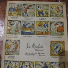 Catálogos publicitarios: ANTIGUO MENU CARTA RESTAURANTE LA ROSALEDA GIRONA . TIPO AUCA. Lote 105129887