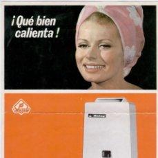 Catálogos publicitarios: PUBLICIDAD CALENTADORES BALAY. AÑO 1967. TRASERA CATÁLOGO.. Lote 105254699