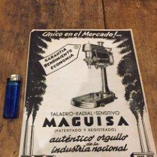 Catálogos publicitarios: PUBLICIDAD TALADRO MAGUISA. Lote 105623542