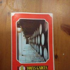 Catálogos publicitarios: CATALOGO PUBLICITARIO VINOS TOMAS GARCIA - BODEGAS BOBADILLA . Lote 105748403