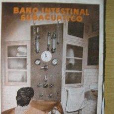 Catálogos publicitarios: PUBLICIDAD BAÑO INTESTINAL SUBACUATICO , CLINICA HIDROTERAPIA DR. FERRANDIZ . BARCELONA MEDICINA. Lote 105772299