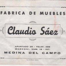 Catálogos publicitarios: CATÁLOGO PUBLICIDAD FÁBRICA MUEBLES CLAUDIO SÁNCHEZ . MEDINA DEL CAMPO ( VALLADOLID ) DESCRIPCIÓN. Lote 105890171