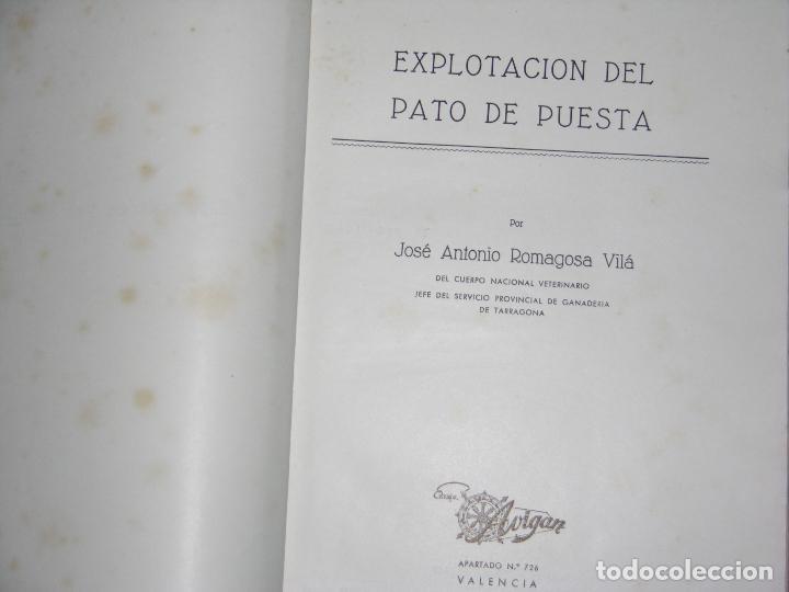 (F.1) LIBRETO DEL PATO DE PUESTA POR D. JOSÉ ANTONÍO ROMAGOSA VILA AÑO 1956 (Coleccionismo - Catálogos Publicitarios)