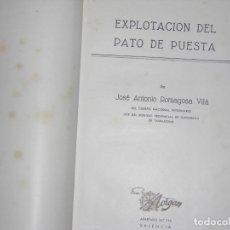 Catálogos publicitarios: (F.1) LIBRETO DEL PATO DE PUESTA POR D. JOSÉ ANTONÍO ROMAGOSA VILA AÑO 1956. Lote 105967739