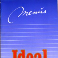 Catálogos publicitarios: MENUS IDEAL - NESTLE. Lote 106020199