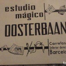 Catálogos publicitarios: ANTIGUO CATALOGO.ESTUDIO MAGICO OOSTERBAAN.BARCELONA. Lote 106024535