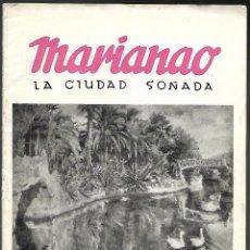 Catálogos publicitarios: MARINAO, LA CIUDAD SOÑADA. CATALOGO DE CONSTRUCCIONES DE CHALETS. SANT BOI DE LLOBREGAT, AÑOS 50. Lote 106041155