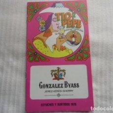 Catálogos publicitarios: CATALOGO DE ESTUCHES Y SURTIDOS BODEGAS GONZALEZ BYASS.AÑO 1970. Lote 106061623