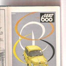 Catálogos publicitarios: COCHES CATALOGO GENERAL AUTOMOVILES 1957 ...N. Lote 106773591