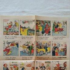 Catálogos publicitarios: PUBLICIDAD CALDO MAGGI. HOJA A COLOR DIBUJOS I G VILADOT S.L. BARCELONA. 32 X 25CM. Lote 107476931
