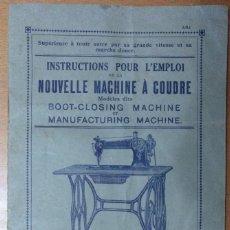 Catálogos publicitarios: CATALOGO MAQUINA DE COSER FRANCESA AÑOS 20 14 X 22 CM (APROX) 16 PAGINAS ILUSTRADO. Lote 107586195