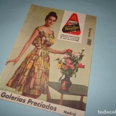 Catálogos publicitarios: ANTIGUO CATÁLOGO VERANO DE GALERIA PRECIADOS DEL AÑO 1960. Lote 107944263