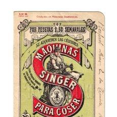 Catálogos publicitarios: PRECIOSO CATÁLOGO DE MÁQUINAS DE COSER SINGER PRINCIPIOS SIGLO XX 1907 PORTADA EN COLOR. Lote 108343055