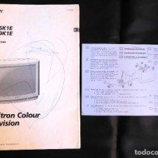 Catálogos publicitarios: MANUAL INSTRUCCIONES USUARIO TELEVISOR SONY SUPER TRINITRON COLOUR TELEVISION KV-25K1E KV-29K1E. Lote 108443511