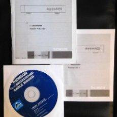 Catálogos publicitarios: MANUAL INSTRUCCIONES ES/FR USUARIO MODEM POR CABLE THOMSON - CD INSTALACION. Lote 108443771