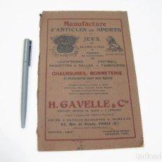 Catálogos publicitarios: CATÁLOGO DE ARTÍCULOS DE DEPORTE. H. GAVELLE & COMPANY.. Lote 108453699