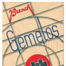 Catálogos publicitarios: CATALOGO INSTRUCCIONES GEMELOS PRISMÁTICOS BUSCH AÑOS 30 LENTES ÓPTICA OPTOMETRIA OFTALMOLOGÍA. Lote 108507903