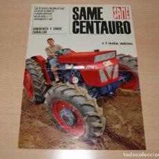 Catálogos publicitarios: CATÁLOGO TRACTOR SAME CENTAURO 55 CV. EN CASTELLANO. Lote 108547439